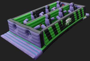 Hinchable experiencia Megajump pasillo de obstáculos